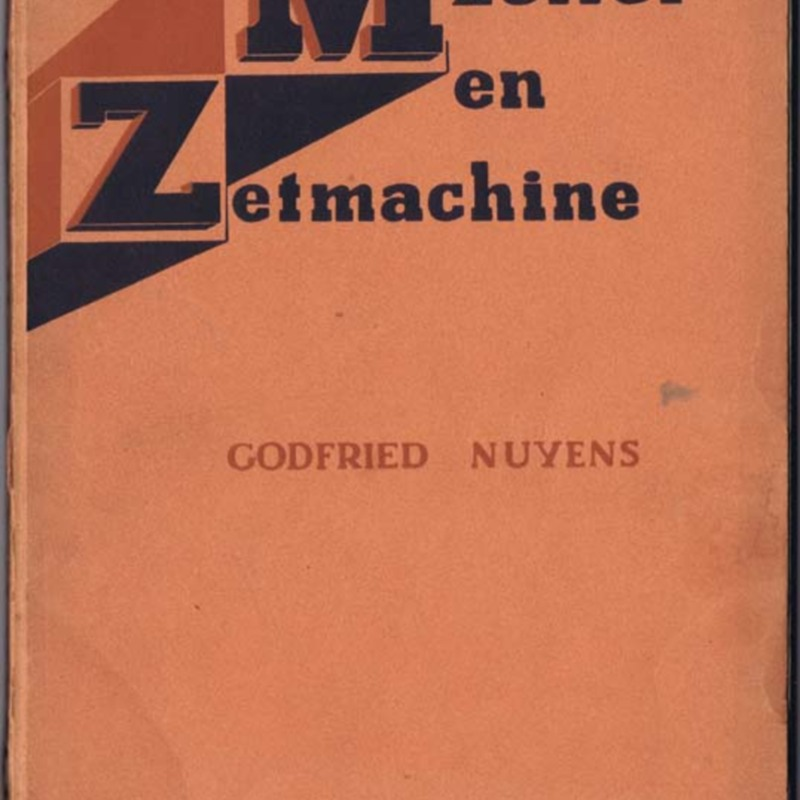 Godfried Nuyens  -  Machinezetter en Zetmachine